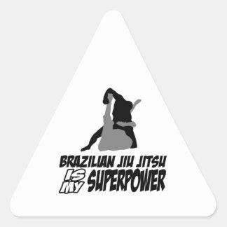 El jitsu brasileño del jiu es mi superpotencia pegatinas de trianguladas