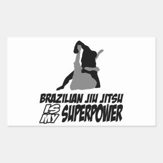 El jitsu brasileño del jiu es mi superpotencia rectangular pegatinas