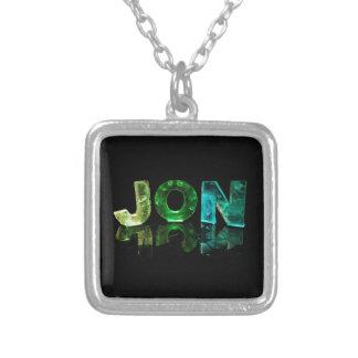 El Jon conocido en 3D se enciende (la fotografía) Colgante Cuadrado