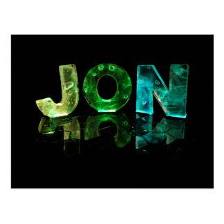 El Jon conocido en 3D se enciende (la fotografía) Tarjetas Postales