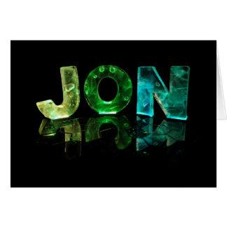 El Jon conocido en las luces 3D (fotografía) Tarjeta De Felicitación
