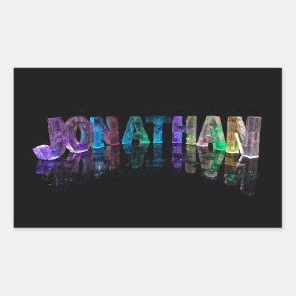 El Jonatán conocido en 3D se enciende (la Pegatina Rectangular