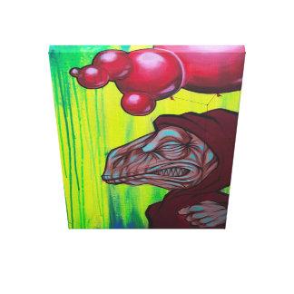 """El """"JR"""" 18x24 de Dino en galería envolvió la lona Lienzo Envuelto Para Galerías"""
