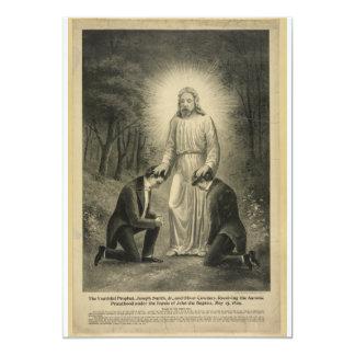 """El Jr. joven de Joseph Smith del profeta (1898) Invitación 5"""" X 7"""""""