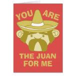 El Juan para mí Tarjeta De Felicitación