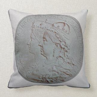 El jubileo 1837-87 de la reina litho del color cojines
