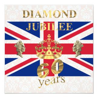 El jubileo de diamante del Queens Invitación 13,3 Cm X 13,3cm
