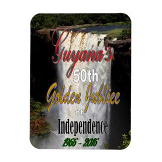 El jubileo de oro de Guyana Imán Rectangular