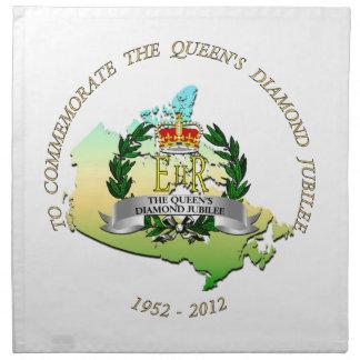 El jubileo del diamante de la reina - Canadá Servilletas Imprimidas