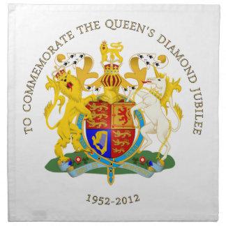 El jubileo del diamante de la reina servilleta de papel