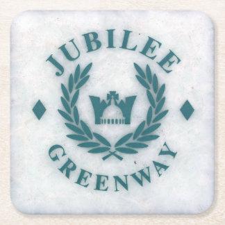 El jubileo Greeway - Londres de la reina - Posavasos Desechable Cuadrado