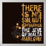 El judío de la cita de la ignorancia de Malta Posters