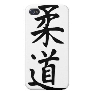 El judo de la palabra en letras japonesas del kanj iPhone 4/4S carcasas