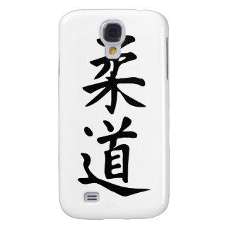 El judo de la palabra en letras japonesas del kanj funda para galaxy s4