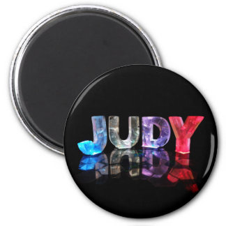 El Judy conocido en 3D se enciende la fotografía Imán Para Frigorifico
