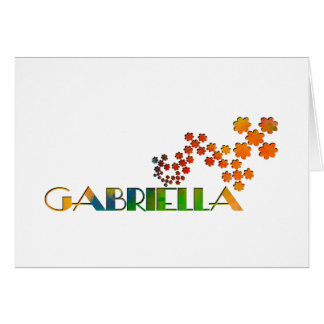 El juego conocido - Gabriela Tarjeta De Felicitación