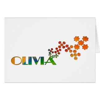 El juego conocido - Olivia Tarjeta De Felicitación