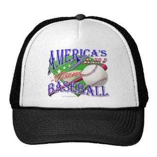El juego de América del béisbol Gorros Bordados