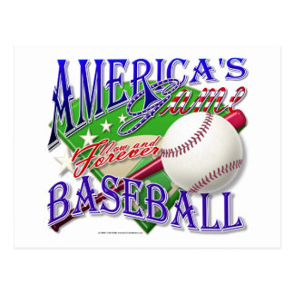 El juego de América del béisbol Tarjeta Postal