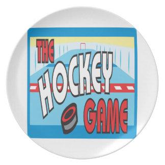 El juego de hockey platos
