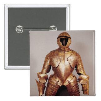 El juego de la armadura pertenece a Charles de Lor Pin Cuadrada 5 Cm