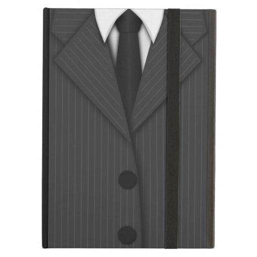 El juego de la tela a rayas y el iPad del iCase de