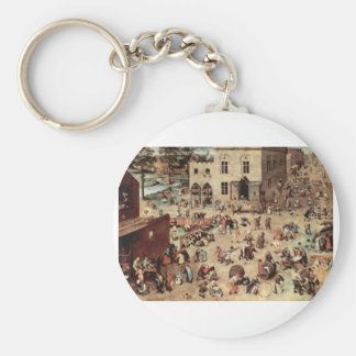 El juego de niño de Pieter Bruegel Llavero Redondo Tipo Pin