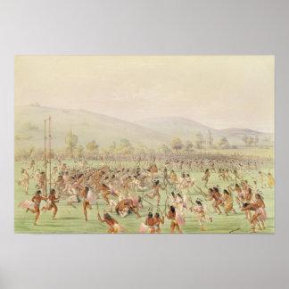 El juego de pelota indio c 1832 posters