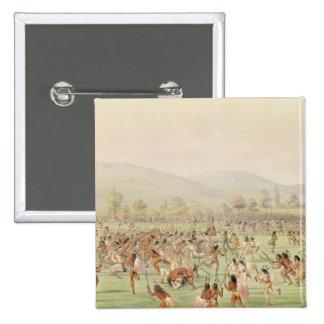 El juego de pelota indio, c.1832 pin cuadrado