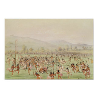 El juego de pelota indio, c.1832 posters