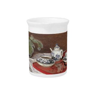 El juego de té - Claude Monet Jarras Para Bebida