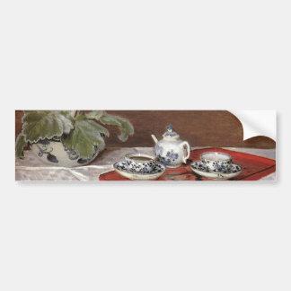 El juego de té - Claude Monet Pegatina Para Auto