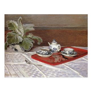 El juego de té - Claude Monet Postales
