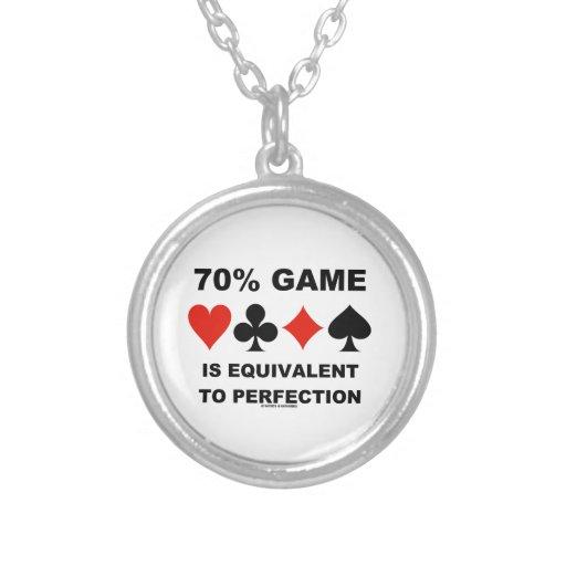 El juego del 70% es equivalente a la perfección pendiente personalizado