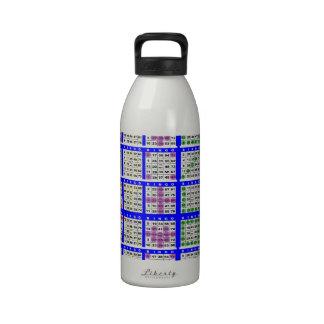 El juego del bingo modela rejilla grande botella de agua