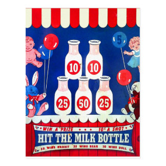 El juego del carnaval del vintage del kitsch golpe tarjeta postal