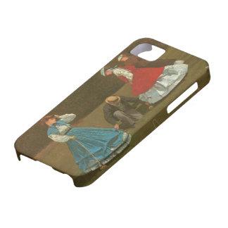 El juego del croquet, 1866 (aceite en lona) iPhone 5 cobertura