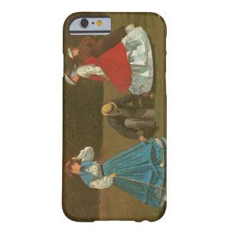 El juego del croquet, 1866 (aceite en lona) funda de iPhone 6 barely there