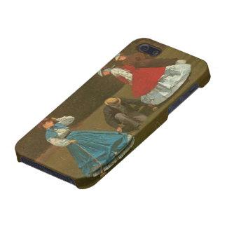 El juego del croquet, 1866 (aceite en lona) iPhone 5 protectores