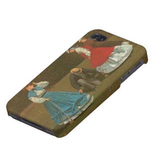 El juego del croquet, 1866 (aceite en lona) iPhone 4/4S fundas