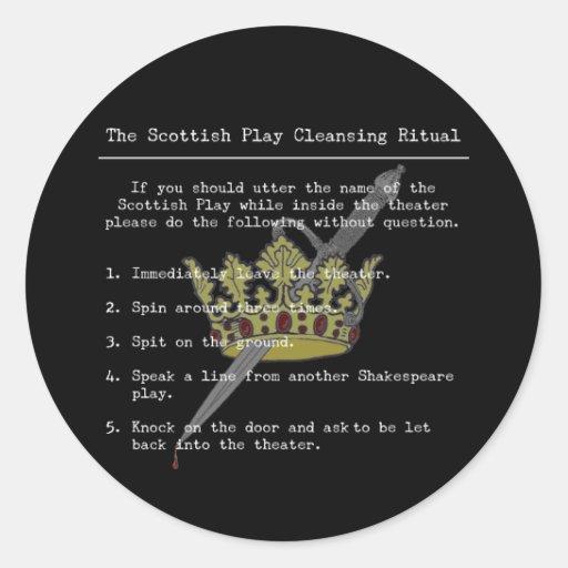 El juego escocés etiquetas redondas