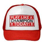 El juego inspirado tiene gusto de un gorra del cam