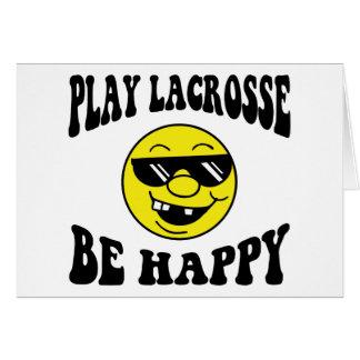 El juego LaCrosse sea feliz Tarjetón