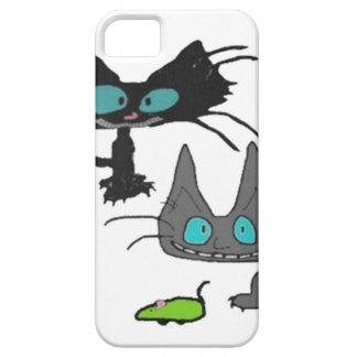 El juego lindo de dos gatitos con allí juega iPhone 5 Case-Mate fundas