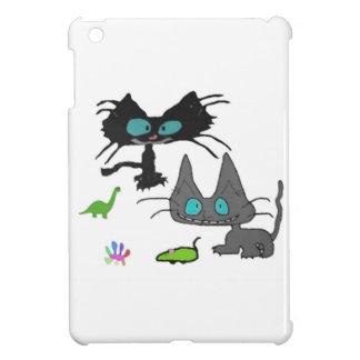 El juego lindo de dos gatitos con allí juega iPad mini fundas