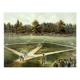 El juego nacional americano del béisbol postal