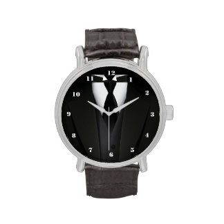 El juego negro elegante de los hombres relojes de pulsera