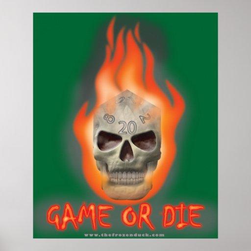 El juego o muere poster