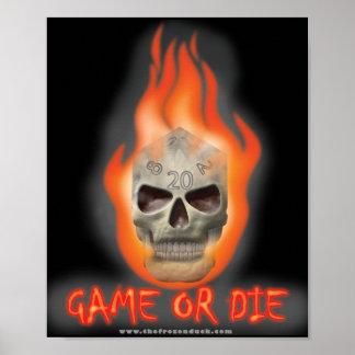 El juego o muere póster
