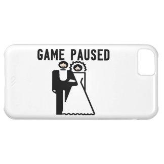 El juego se detuvo brevemente novia y novio funda para iPhone 5C